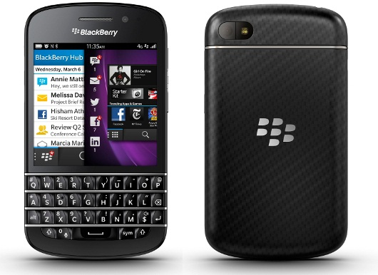 BlackBerry Q10, nuovo smartphone touchscreen con tastiera QWERTY